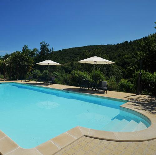 Zwembad van Le Manoir