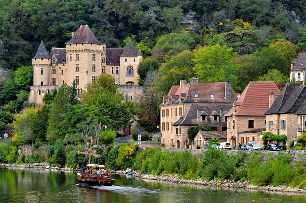 La Roque Gageac in de vallei van de Dordogne