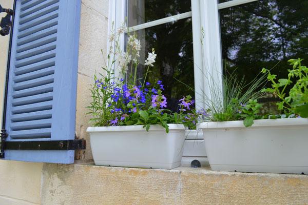 Le Manoir in Souillac, bloembakken