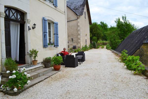 Oprit van Le Manoir in Souillac