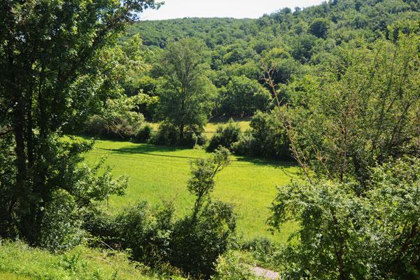 Le Manoir in Souillac, zicht op vallei