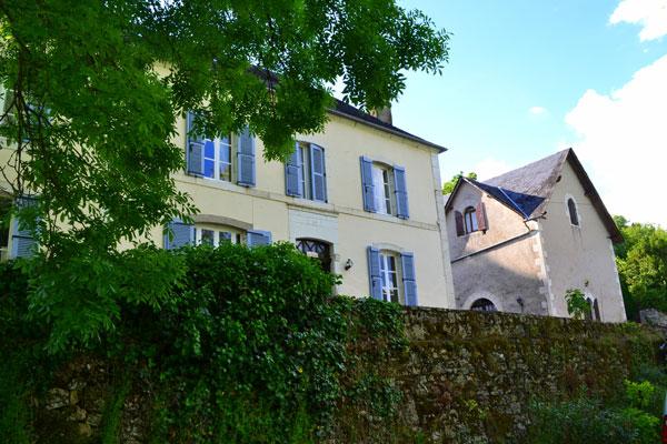 Le Manoir in Souillac, zicht vanaf schuur