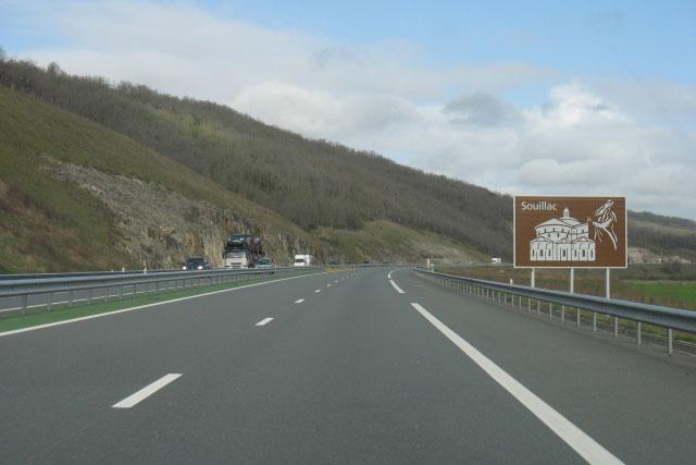 A20 ter hoogte van Souillac