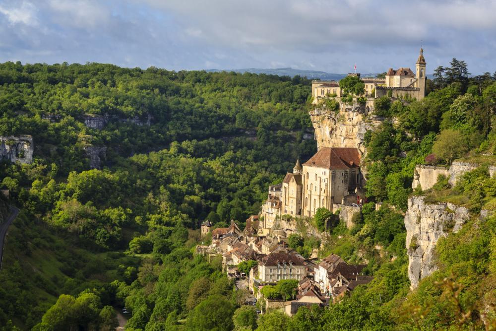 Rocamadour in de Vallei van de Dordogne