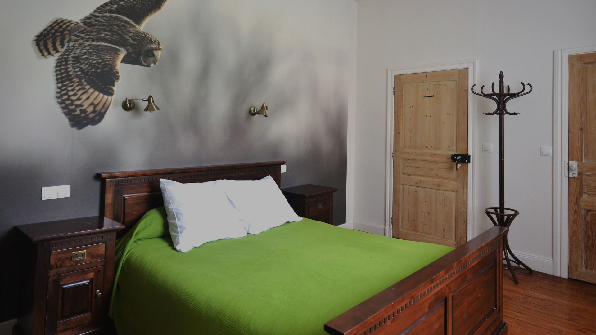The guest rooms