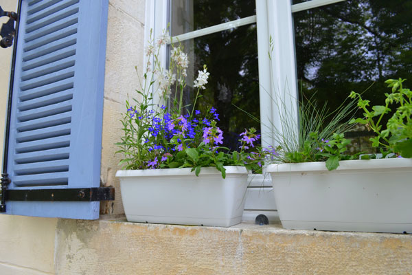 Le Manoir in Souillac, flower boxes