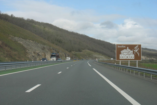 A20 at the height of Souillac