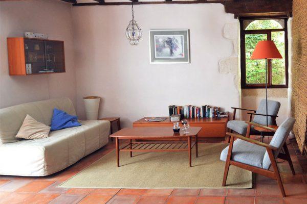 Zithoek van gastenkamer Colombard in Souillac