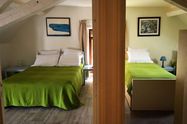 2 chambres a coucher gite Tannat Le Manoir Souillac
