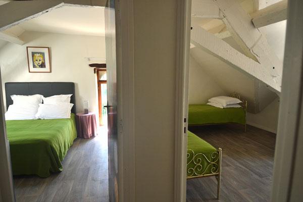 les 2 chambres a coucher du gite malbec Le Manoir Souillac
