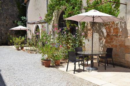 Le Manoir a Souillac, terrasse du gite manseng