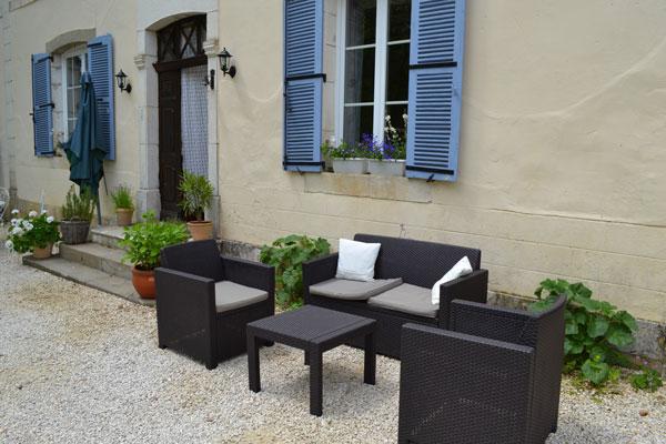 Le Manoir a Souillac, salon exterieur