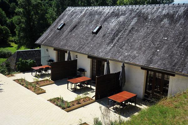 terrasses des 3 gites chez Le Manoir