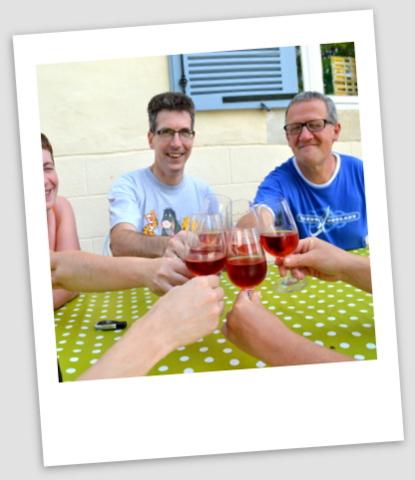 visite d'amis chez Jan et Marion