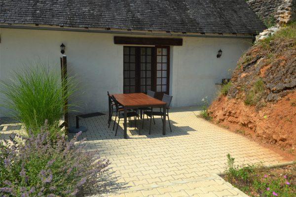 Het terras van gite Tannat Le Manoir Souillac