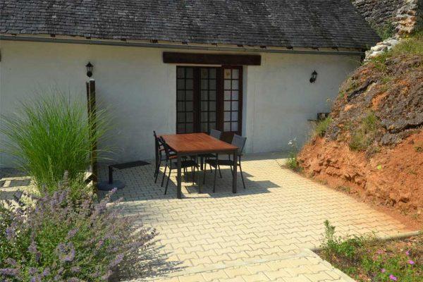 Terrasse du gite Tannat Le Manoir Souillac