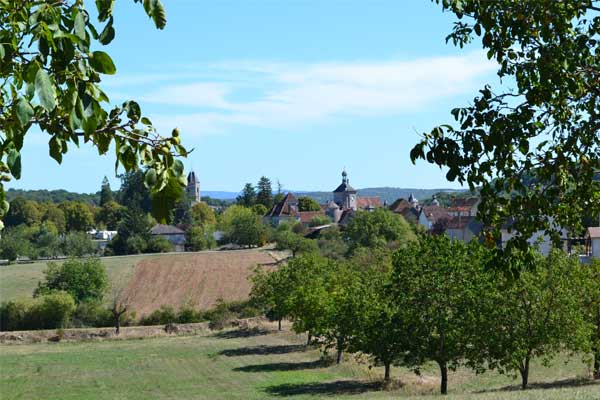 zicht op Martel, Lot, Occitanie