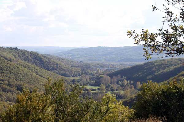 vergezicht in Souillac, Lot, Occitanie